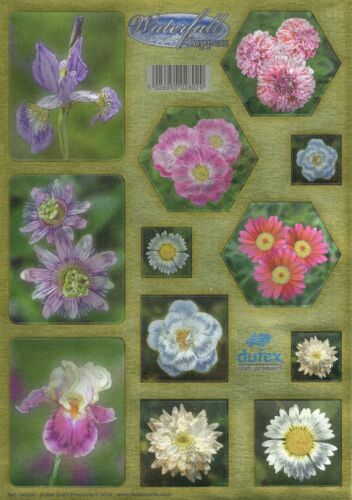 Dufex Die Cut Toppers Garden Flowers Waterfall Cards