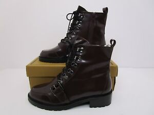 489dc7ef8b6 ASOS DESIGN Arya Burgundy leather hiker Women's ankle boots UK SZ 7 ...