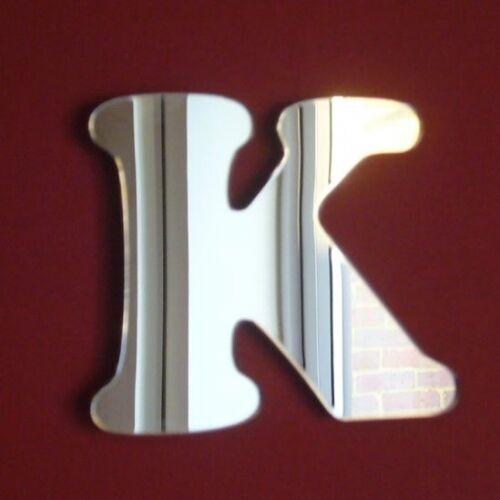 Funky lettre K Acrylique Miroir plusieurs tailles disponibles