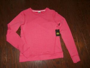 NWT-ATHLETIC-WORKS-CORAL-HEATHER-POLY-RAYON-SOFT-SWEATSHIRT-SIZE-14-16