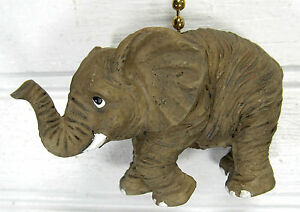 Elephant With Tusks Ceiling Fan Or Light Pull Wildlife Home Decor Ebay