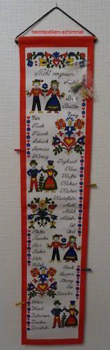 Textiler Wandkalender Einkaufshilfe Merktabelle Einkaufsliste Einkaufskalender
