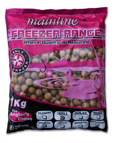 10kg OF MAINLINE FROZEN ACTIVE 8 FLAVOUR BOILIES 18mm, FOR CARP FISHING