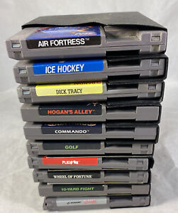 Nintendo NES Lot of 10 Games Some w/ Manuals & Dust Sleeves #2