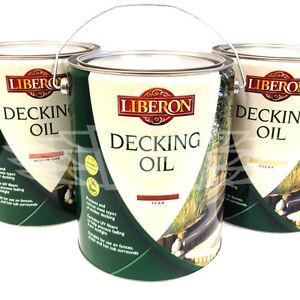 5 litres medium oak clear or teak genuine liberon decking. Black Bedroom Furniture Sets. Home Design Ideas