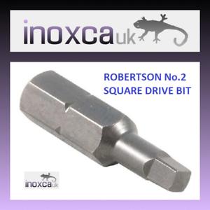 1 sq 00 2 place bits lot of 3 50 robertson s2-stahl 1 square bit