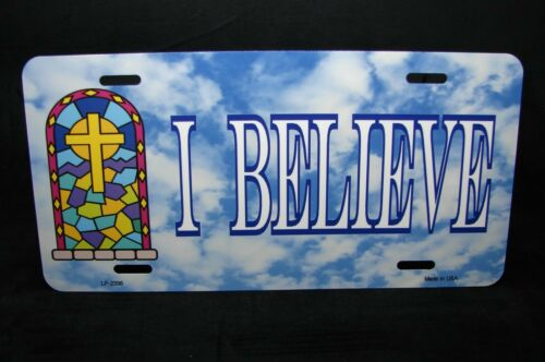 Jesus I Believe Metal Noveltly Kennzeichen für Autos Christlich Religiös