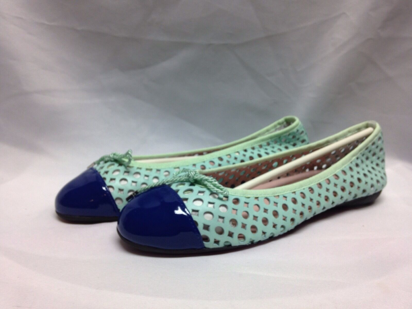 Paul Brandy Mayer Attitudes Brandy Paul Balet  Flat 7.5 M Patent Azul/Aqua New w/ Box a00847