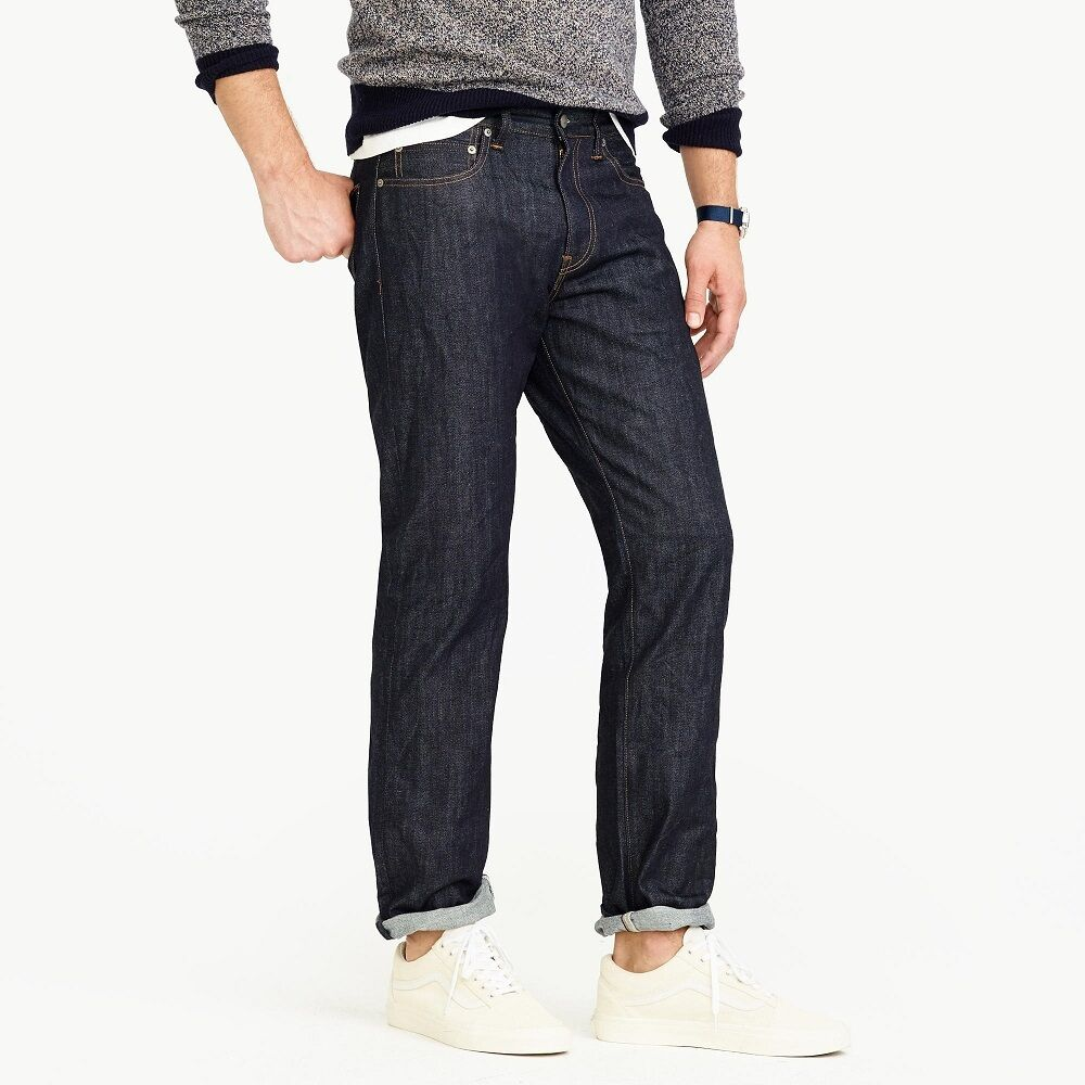 J. Crew 1040 Japanese Kaihara Denim Mens Straight Athletic Jeans NEW 32x32