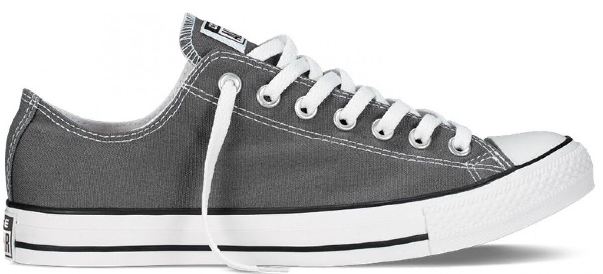 CONVERSE ALLSTARS OX LO CHARCOAL GREY FASHION TRAINERS LADIES GIRLS UK SIZES