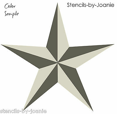 Designs by Joanie 2 pc STENCIL Nautical North Barn Star Country Western Art Sign