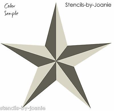 Joanie 2 pc Stencil Nautical North Star Country Western Barn 4th July Art Signs