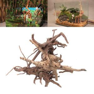 Aquarium-Bois-Tronc-Bois-flotte-Poisson-d-039-arbre-Reservoir-Stump-Ornament-Decor