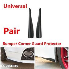 2 Pcs 283MM Carbon Fiber Look Shark Fin Style Car Bumper Corner Guard Protector