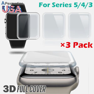3-PACK-Apple-Watch-Series-5-4-3-Premium-Tempered-Glass-Screen-Protector-40-44MM
