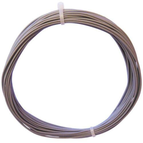 10m trefolo GRIGIO-einadrig flessibile 0,25mm² 0,30 €//m