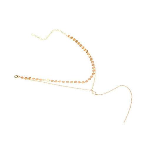 Womens Crystal Choker Necklace Simple Tassel Chain Collar Gothic Punk JewelryTFS