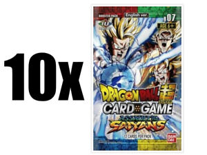Dragon-Ball-Super-TCG-Assault-of-the-Saiyans-10-Booster-Pack-Lot