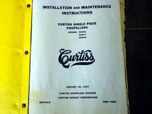 Original 1937 curtiss single piece propellers install service manual image is loading original 1937 curtiss single piece propellers install service publicscrutiny Image collections