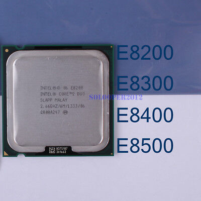 Intel Core 2 Duo E8200 E8300 E8400 E8500 E8600 LGA//775 Processor CPU