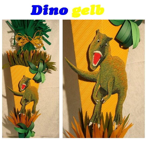 Schultüte Dino gelb | Zuverlässige Leistung  | Günstigen Preis  | Gute Qualität