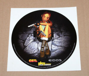 1999 Tomb Raider Ii Old Round Sticker For Old Big Playstation 1