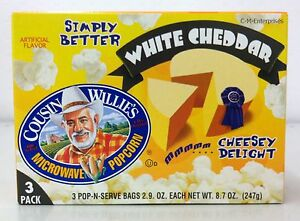 Image Is Loading Cousin Willie 039 S White Cheddar Microwave Popcorn