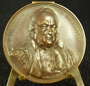 Medaille-Jean-Baptiste-Victor-Proudhon-Rechtsberater-1837-chasnans-Medaille