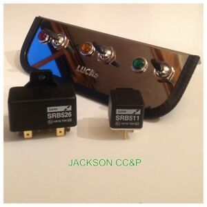 LUCAS-SPB-707-FOG-SPOT-LIGHT-AUXILIARY-SWITCH-HOLDER-SWITCHES-RELAYS-WARN-LIGHT