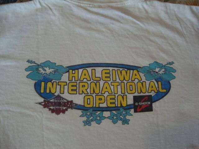 Vintage 90's HALEIWA International Open Surfboard Competition Rusty T shirt XL