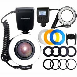 New-Travor-RF-550D-Macro-LED-Ring-Flash-Light-For-Nikon-Canon-Olympus-Panasonic