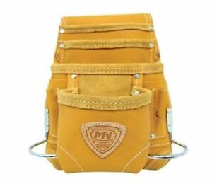 4b9aa4b1 Details about Mcguire Nicholas 689 MB Carpenter Electrician Tool pouch bag  Full grain LEATHER