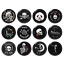 Bone Pinbacks Pirate Sign Pin Badge Uncharted Button Tin 58mm//2.2in Bag Decor