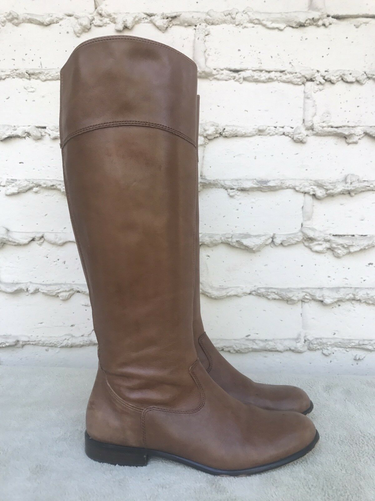 EUC CORSO COMO Women Riding Boot Brown Leather Tall Knee High Size US 7 M
