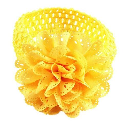 Baby Kids Girl Lace Flower Crochet Hairband Headband Dress Up Head Accessories I