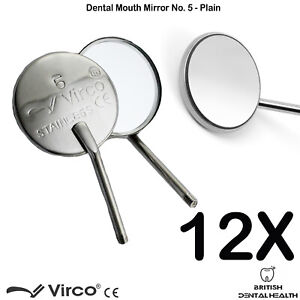 Details About 6 Or 12 X Plain Dental Mirrors No 5 Mirror Handle Examination Tools Ce
