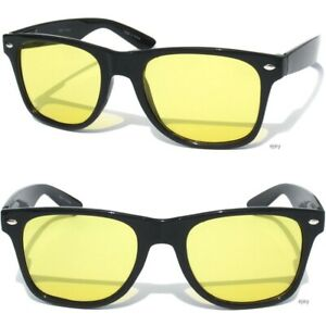 cf9de3d198 Details about Yellow Lens Sunglasses Classic Retro Style HD Night Vision Driving  High Contrast
