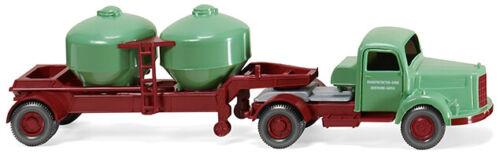 """Wiking 053002 MERCEDES BENZ L 3500 cemento autoarticolati /""""trasporto cemento/"""" HO NUOVO"""