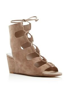74e4aecd5ea5 NIB Dolce Vita Louise Kidsuede Lace Up Wedge Sandals Size 9.5 COLOR ...