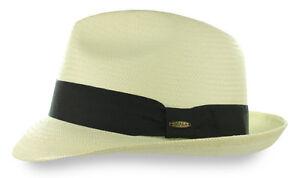 5-BU-Toyo-Straw-Panama-Fedora-Hat-Ivory-Trilby-Beach-Cuban-Black-Ribbon-M-L-XL