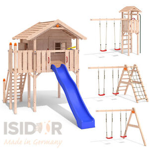 isidor wonder wow spielturm kletterturm baumhaus rutsche schaukeln treppe 1 50m ebay. Black Bedroom Furniture Sets. Home Design Ideas