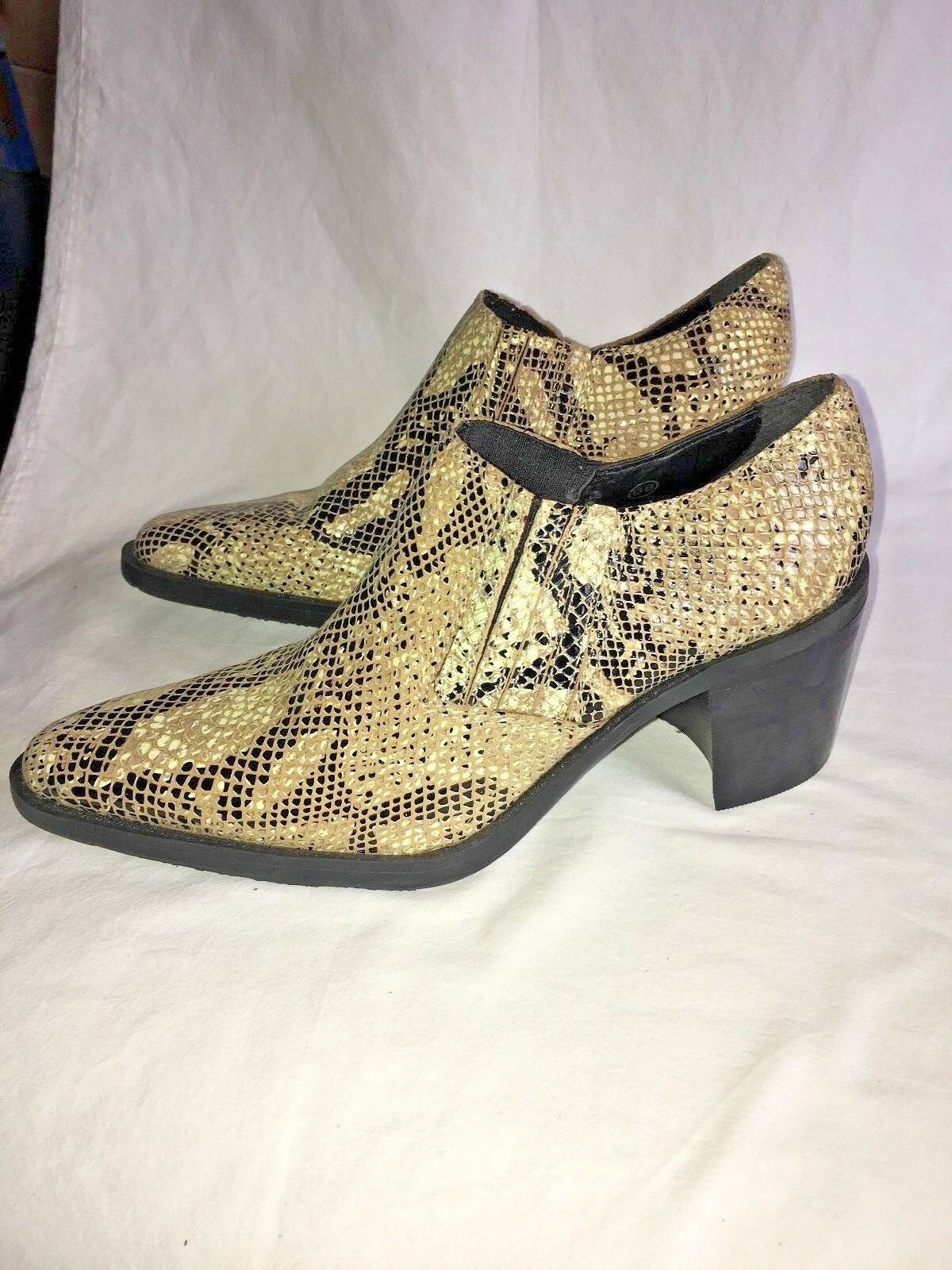 Seychelles women's booties snakeskin 7 M Flex Tread Like