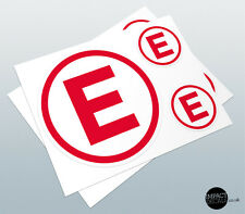 Fire Extinguisher Decals / Motorsport Extinguisher Roundels / Scrutineer sticker