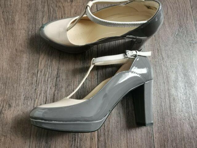 Ladies Clarks Buckle Block Heel Shoes