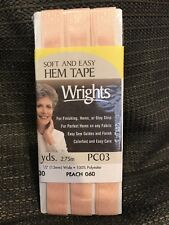 """Wrights Soft And Easy Hem Tape; #167; 3 Yards x 1//2/"""" Wide"""