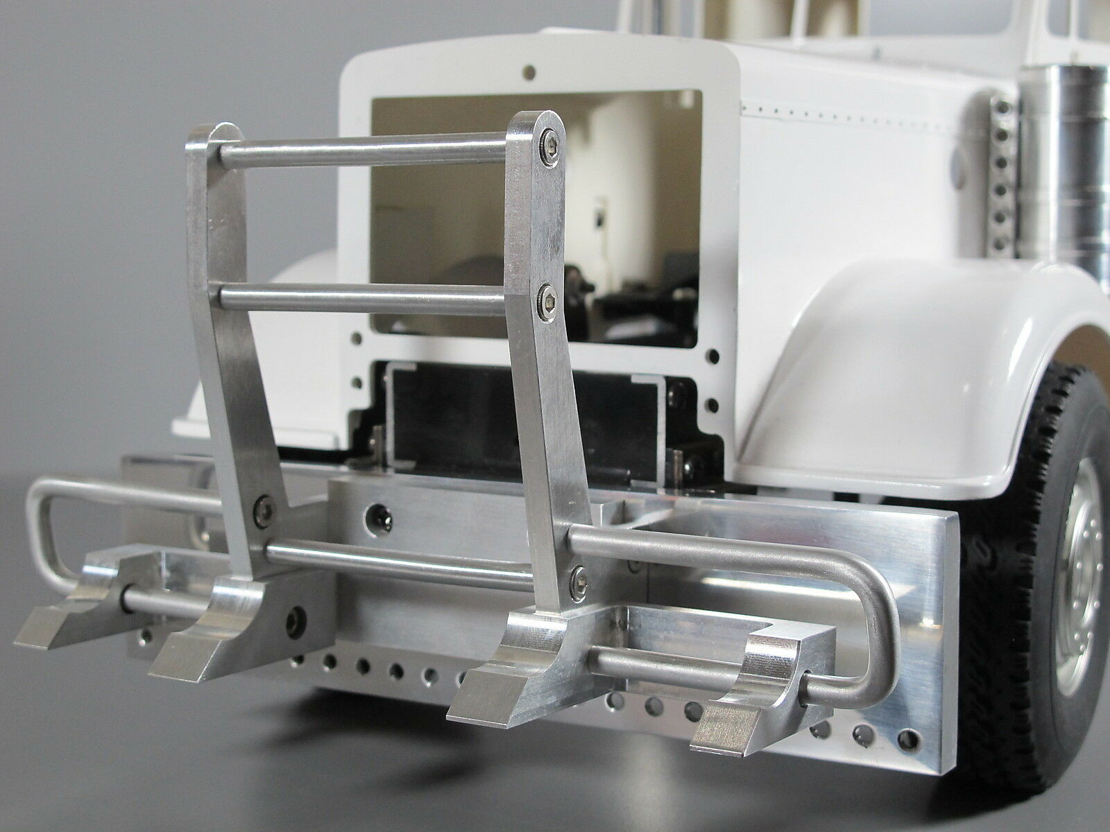 Gancho De Aluminio Estilo C   Tope Tamiya Rc 1 14 Caballero Rey Grand Transportador Semi Camión