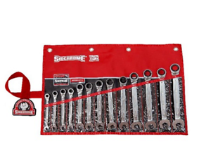 Sidchrome 13-PIECE AF PRO SERIES GEARED SPANNERS SET SCMT22211 Ring & Open End