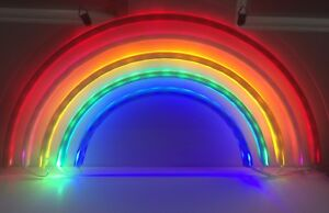 Rainbow Neon Sign LED Lights Wall Hanging Home Decor Light #0: s l300