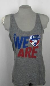 FC-Dallas-Women-039-s-Adidas-Sleeveless-Tank-Top-Gray-S-M-L-XL-MLS