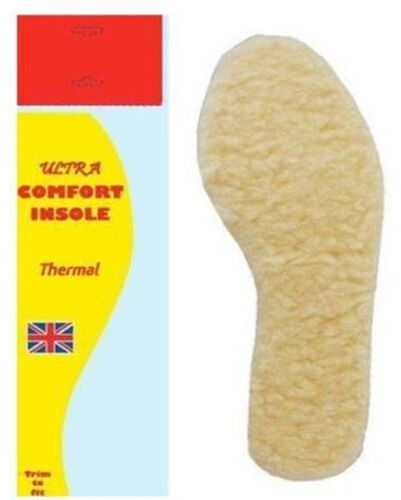 1 PAIR MEN LADY UNISEX ULTRA COMFORT WOOL INSOLE THERMAL FOOT FEET SIZE 3//4